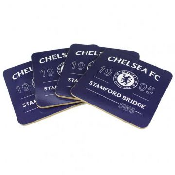 Chelsea FC 4 Pack Coaster Set